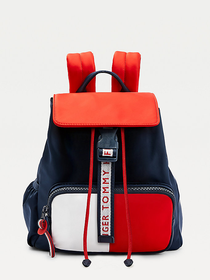 blue kids' signature backpack for girls tommy hilfiger