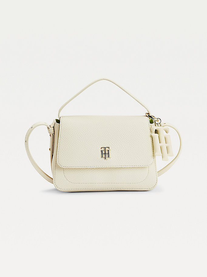 beige monogram charm crossover for women tommy hilfiger