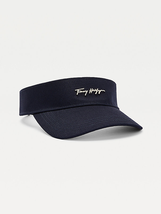 blue signature visor for women tommy hilfiger