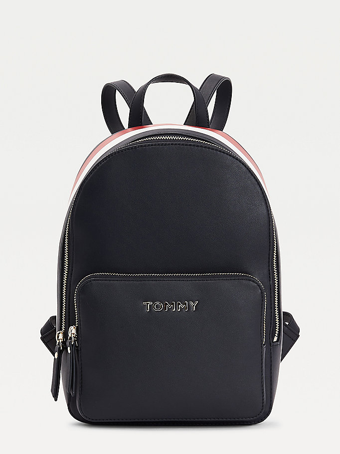 blue signature metal logo backpack for women tommy hilfiger