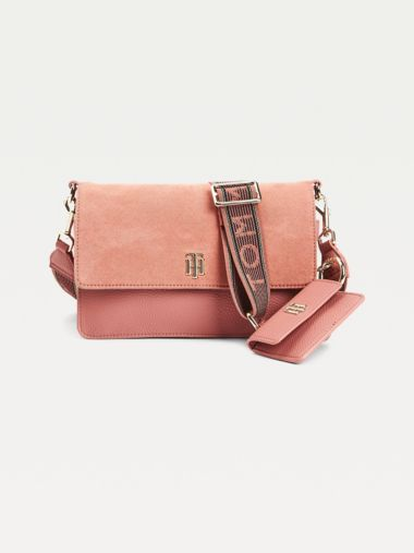 TH Soft Pebble Grain Crossover Bag