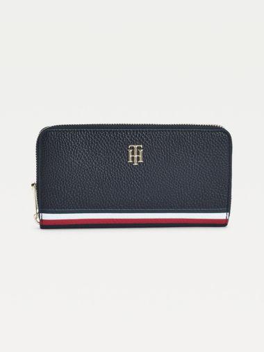 Große Brieftasche mit Tommy-Details