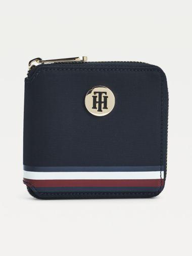 Mittelgroße Brieftasche mit Tommy-Details