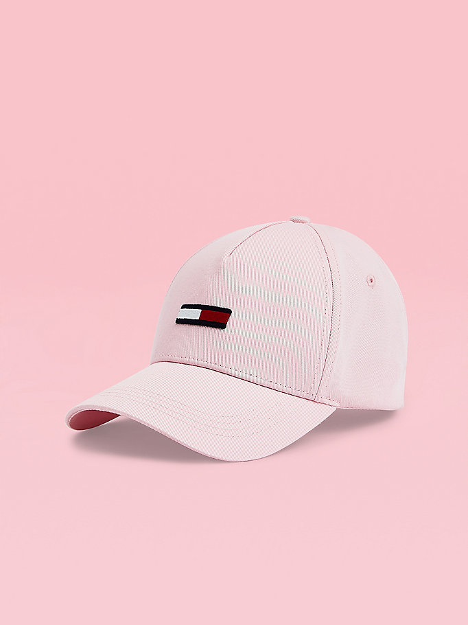 pink pastel pure cotton cap for women tommy jeans