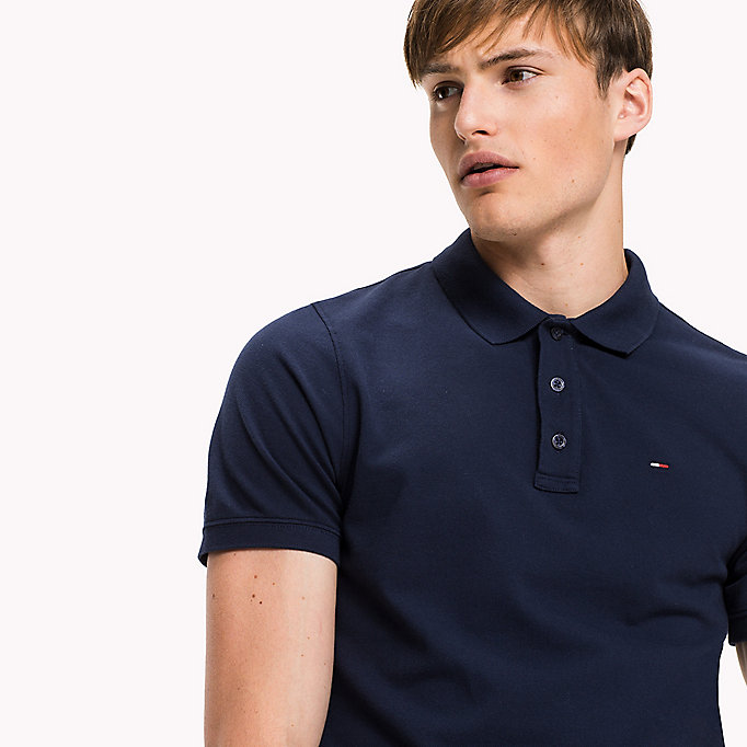 TOMMY JEANS Cotton Piqué Slim Fit Polo - SKYDIVER - TOMMY JEANS Clothing - detail image 2