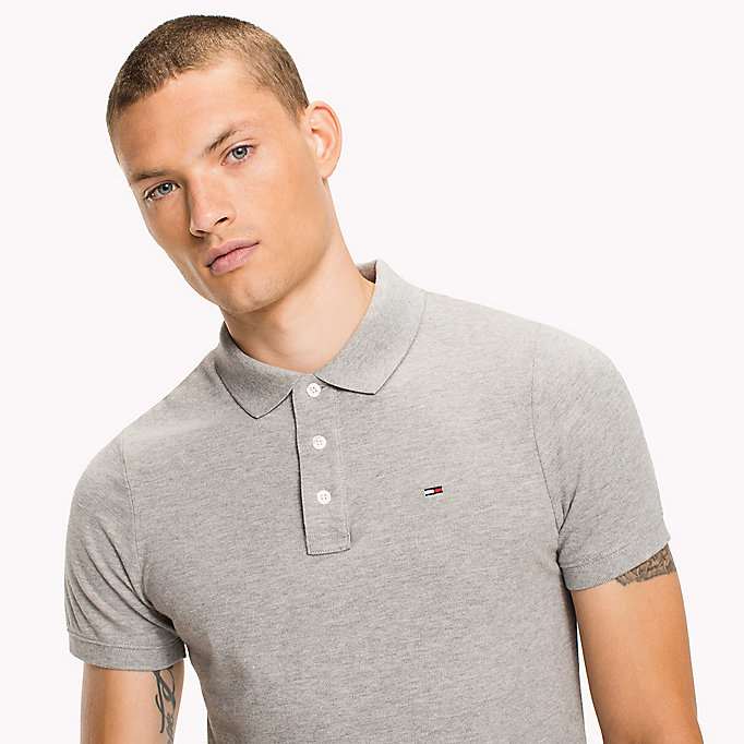 TOMMY JEANS Cotton Piqué Slim Fit Polo - SALSA - TOMMY JEANS Clothing - detail image 2