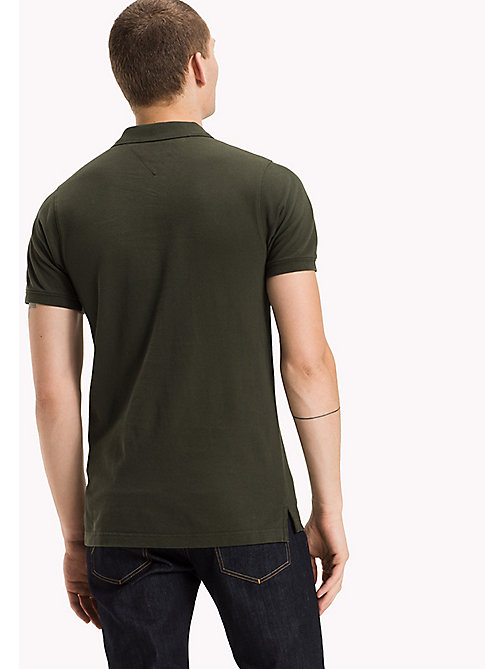 TOMMY JEANS Cotton Piqué Slim Fit Polo - FOREST NIGHT? - TOMMY JEANS Clothing - detail image 1