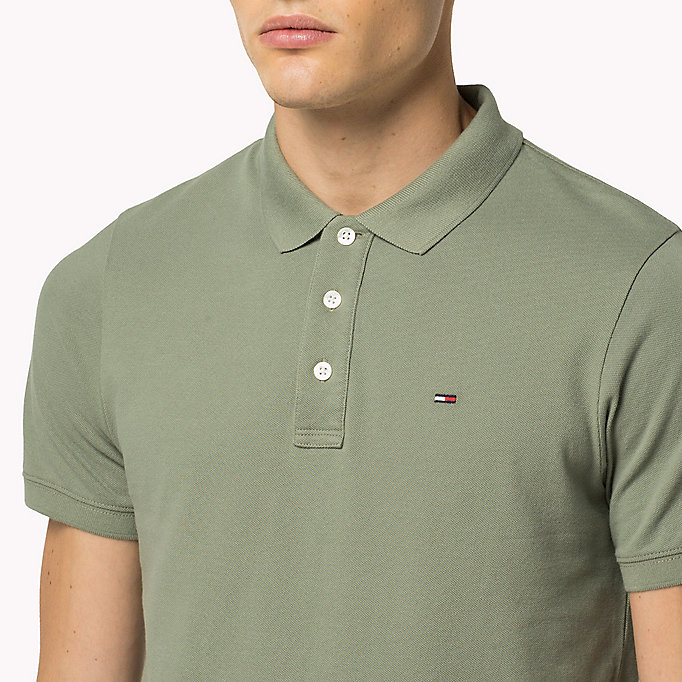 TOMMY JEANS Cotton Piqué Slim Fit Polo - INDIGO BUNTING - TOMMY JEANS Clothing - detail image 2