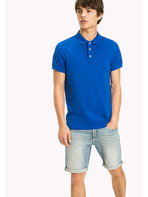 TOMMY JEANS Cotton Piqué Slim Fit Polo - NAUTICAL BLUE - TOMMY JEANS Clothing - main image