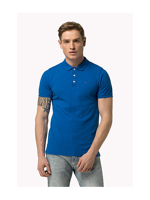 TOMMY JEANS Cotton Piqué Slim Fit Polo - SKYDIVER - TOMMY JEANS Clothing - main image