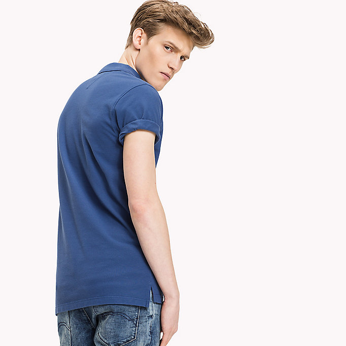 TOMMY JEANS Cotton Piqué Slim Fit Polo - DANDELION - TOMMY JEANS Clothing - detail image 1