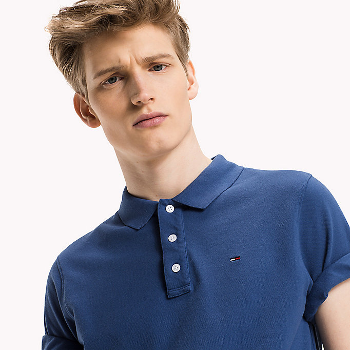 TOMMY JEANS Cotton Piqué Slim Fit Polo - DANDELION - TOMMY JEANS Clothing - detail image 2
