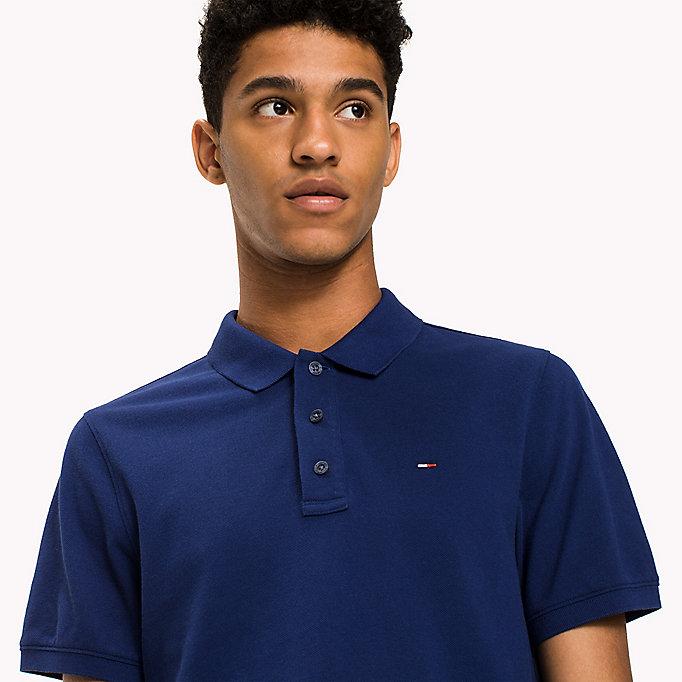TOMMY JEANS Cotton Piqué Slim Fit Polo - JELLY BEAN - TOMMY JEANS Clothing - detail image 2