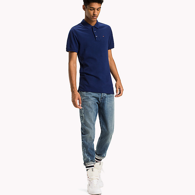TOMMY JEANS Polo slim fit in cotone - JELLY BEAN - TOMMY JEANS Uomini - immagine principale