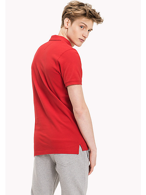 TOMMY JEANS Cotton Piqué Slim Fit Polo - SALSA - TOMMY JEANS Clothing - detail image 1