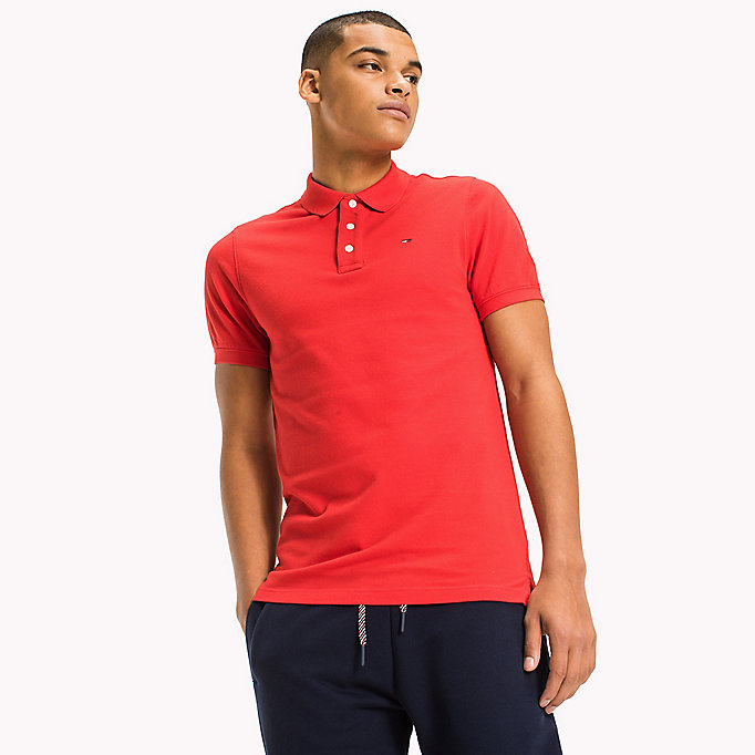 TOMMY JEANS Polo slim fit in cotone - BLUE DEPTHS - TOMMY JEANS Uomini - immagine principale