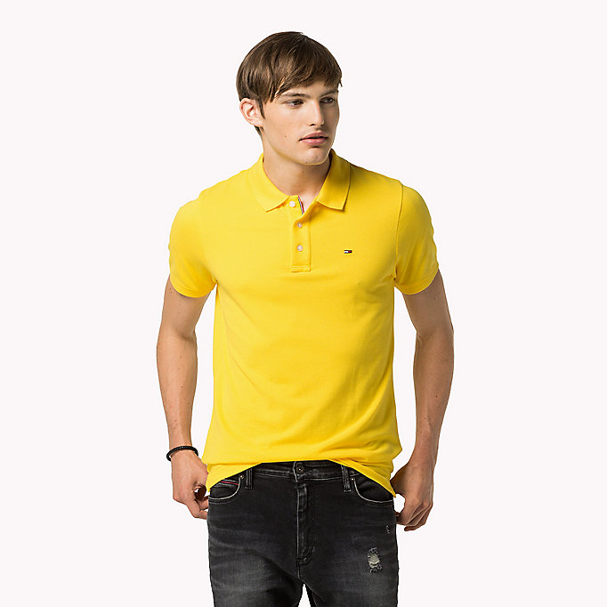 TOMMY JEANS Polo slim fit in cotone - NAUTICAL BLUE - TOMMY JEANS Uomini - immagine principale