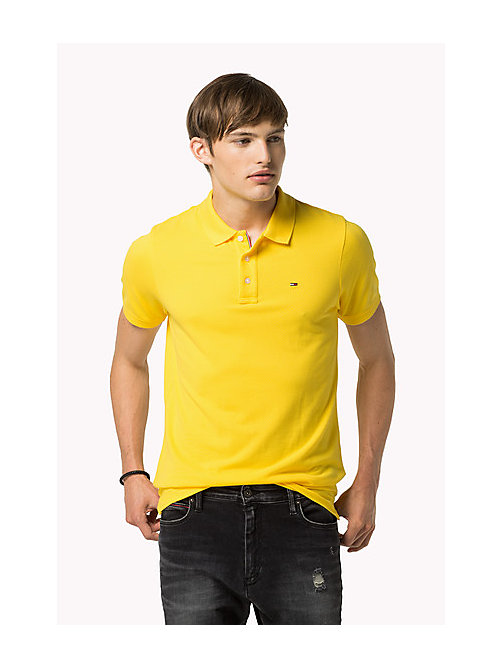 TOMMY JEANS Cotton Piqué Slim Fit Polo - DANDELION - TOMMY JEANS Clothing - main image