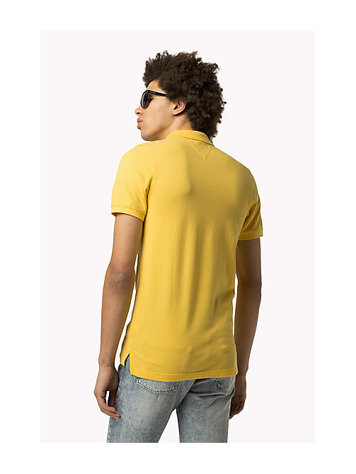 TOMMY JEANS Cotton Piqué Slim Fit Polo - MIMOSA - TOMMY JEANS Clothing - detail image 1