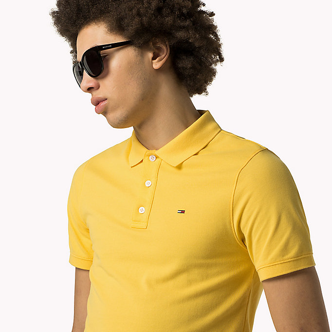 TOMMY JEANS Cotton Piqué Slim Fit Polo - FOUR LEAF CLOVER - TOMMY JEANS Clothing - detail image 2