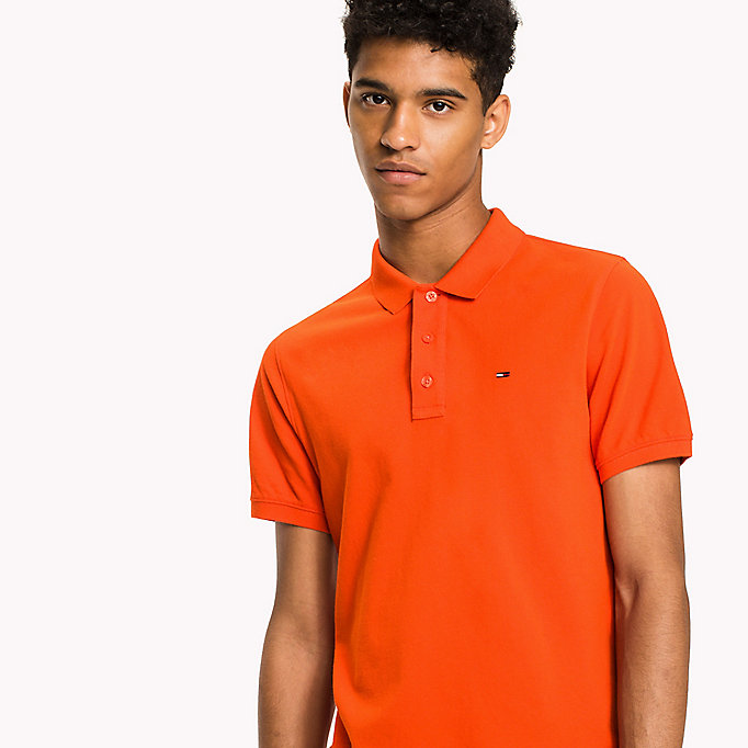 TOMMY JEANS Cotton Piqué Slim Fit Polo - MIMOSA - TOMMY JEANS Clothing - detail image 2