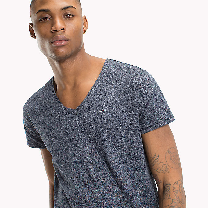 TOMMY JEANS Jersey V-Neck T-Shirt - TOMMY BLACK - TOMMY JEANS Clothing - detail image 2