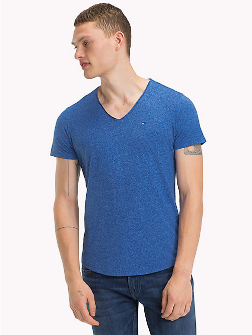 TOMMY JEANS Jersey V-Neck T-Shirt - NAUTICAL BLUE - TOMMY JEANS Clothing - main image