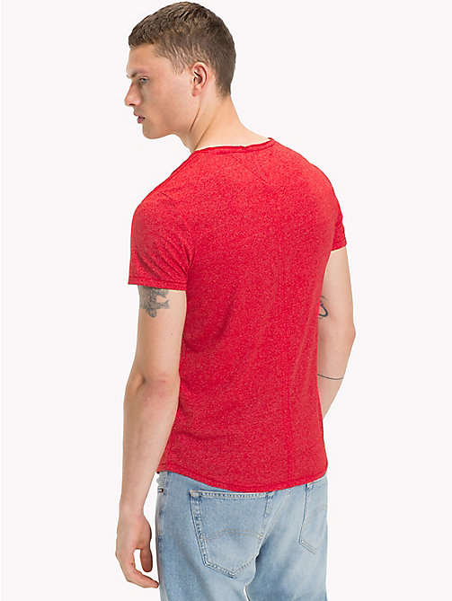 TOMMY JEANS Jersey V-Neck T-Shirt - RACING RED - TOMMY JEANS Clothing - detail image 1