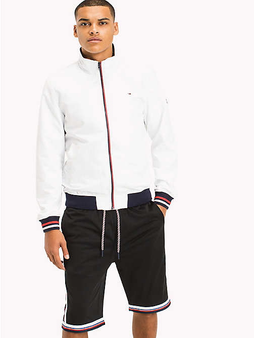 TOMMY JEANS Nylon Bomber Jacket - CLASSIC WHITE - TOMMY JEANS MEN - main image