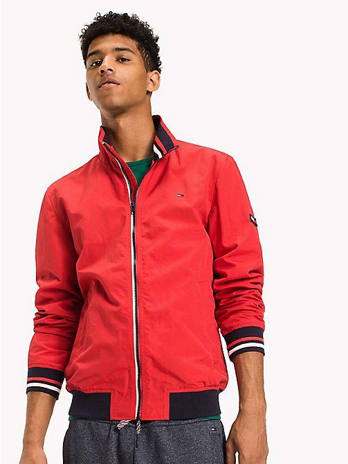 TOMMY JEANS Nylon Bomber Jacket - RACING RED - TOMMY JEANS Coats & Jackets - main image