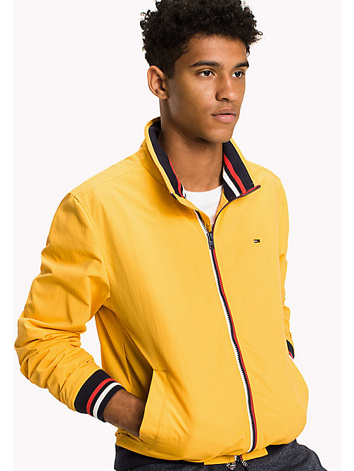 TOMMY JEANS Nylon Bomber Jacket - ARTISANS GOLD - TOMMY JEANS MEN - main image