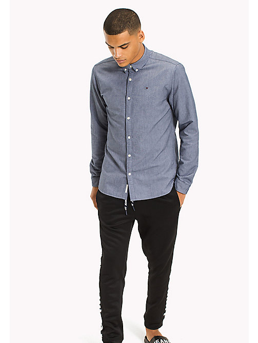 TOMMY JEANS Regular Fit Oxford Shirt - BLACK IRIS - TOMMY JEANS MEN - main image