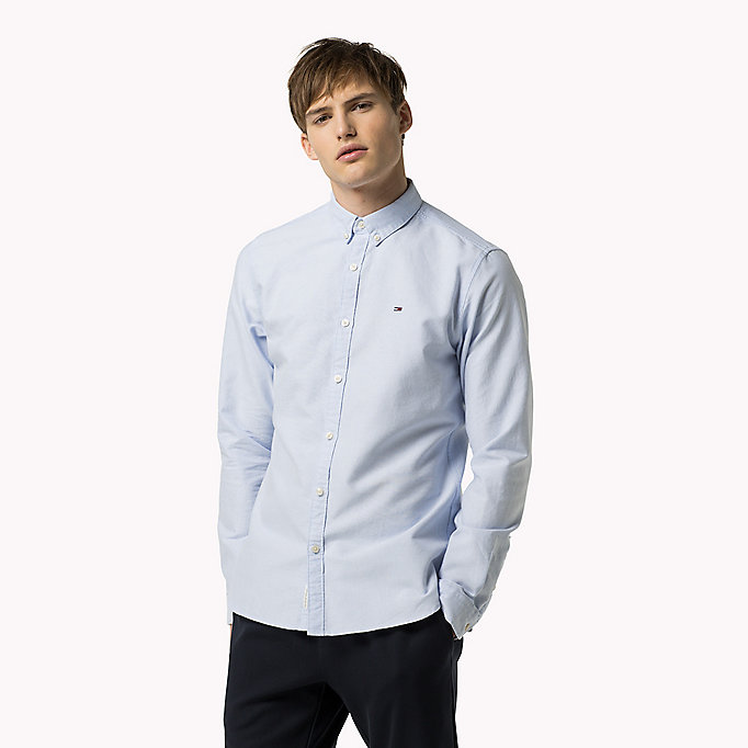 TOMMY JEANS Regular Fit Oxford Shirt - CLASSIC WHITE - TOMMY JEANS Clothing - detail image 1