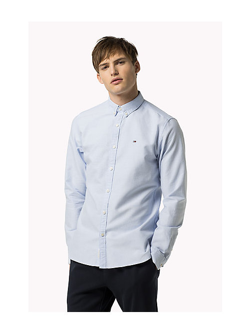TOMMY JEANS Regular Fit Oxford Shirt - LIGHT BLUE - TOMMY JEANS MEN - detail image 1