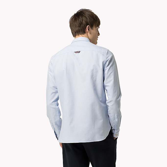 TOMMY JEANS Regular Fit Oxford Shirt - CLASSIC WHITE - TOMMY JEANS Clothing - detail image 2