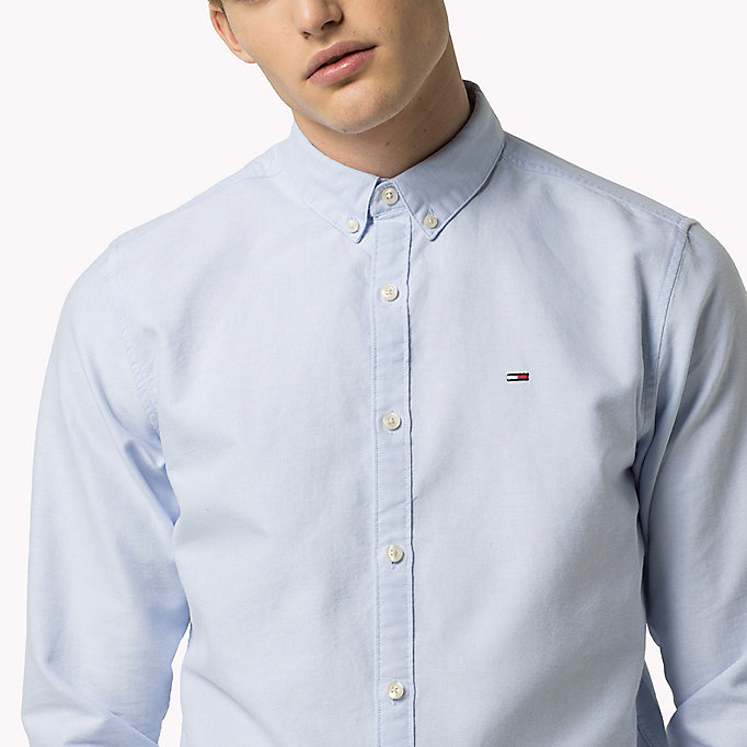 TOMMY JEANS Regular Fit Oxford Shirt - CLASSIC WHITE - TOMMY JEANS Clothing - detail image 3