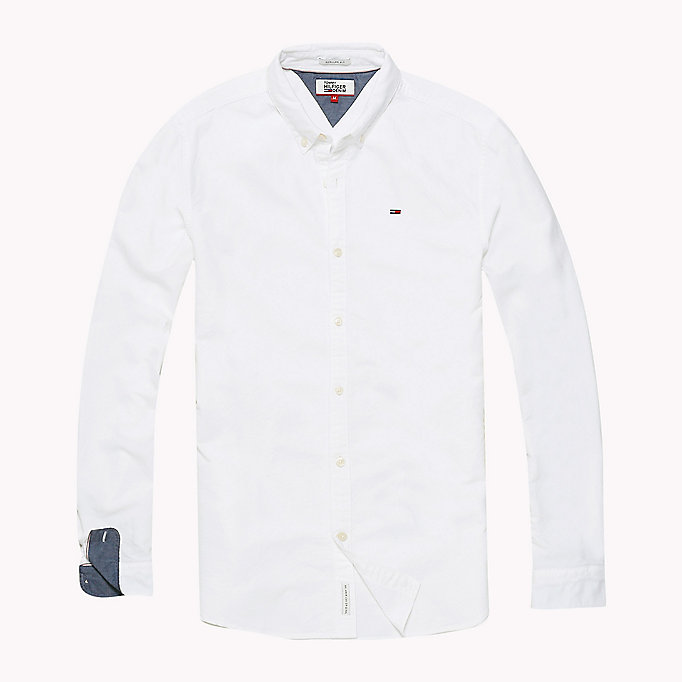 TOMMY JEANS Regular Fit Oxford Shirt - BLACK IRIS - TOMMY JEANS Clothing - detail image 1