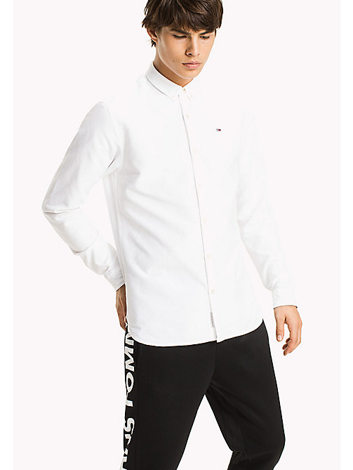 TOMMY JEANS Regular Fit Oxford Shirt - CLASSIC WHITE - TOMMY JEANS MEN - main image