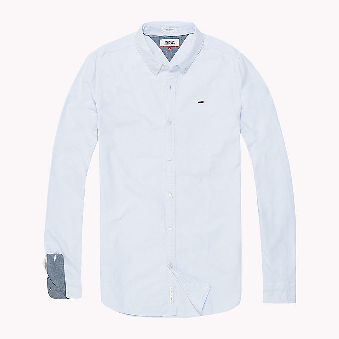 TOMMY JEANS Regular Fit Oxford Shirt - CLASSIC WHITE - TOMMY JEANS Men - detail image 1