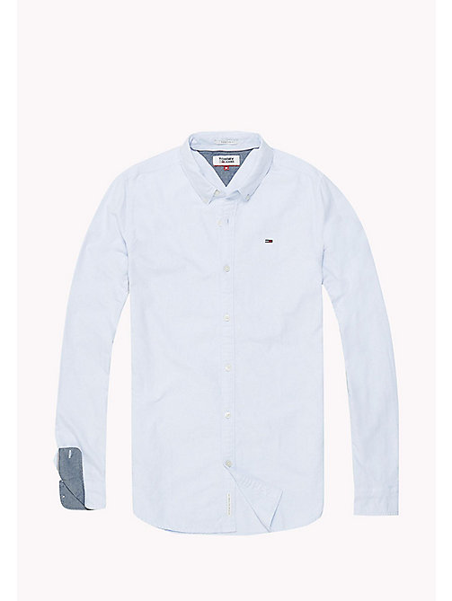 TOMMY JEANS Regular Fit Oxford Shirt - LIGHT BLUE - TOMMY JEANS TOMMY JEANS MEN - detail image 1