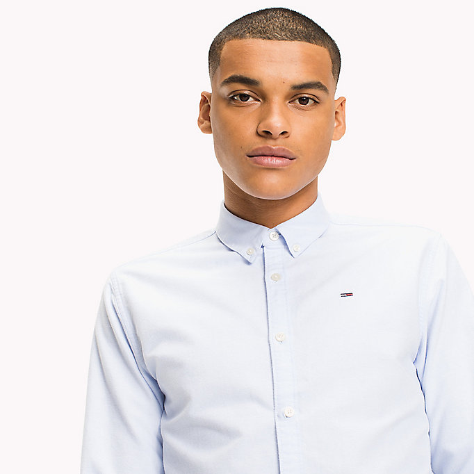 TOMMY JEANS Regular Fit Oxford Shirt - CLASSIC WHITE - TOMMY JEANS Men - detail image 3