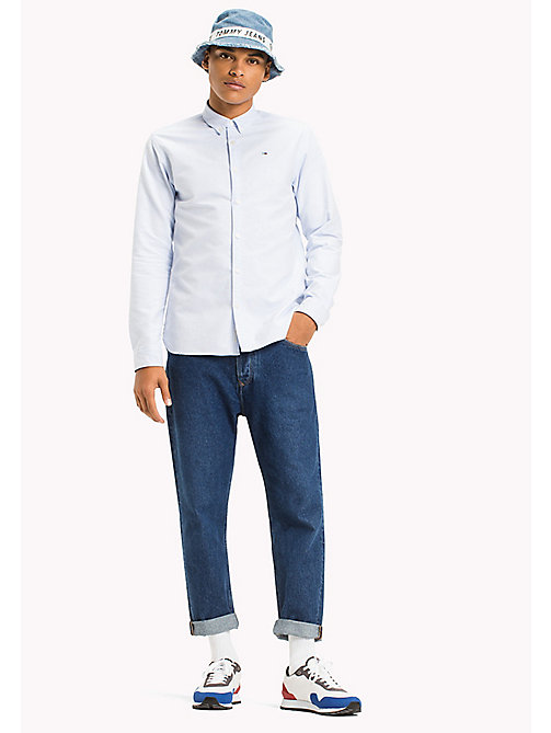 TOMMY JEANS Regular Fit Oxford Shirt - LIGHT BLUE - TOMMY JEANS MEN - main image