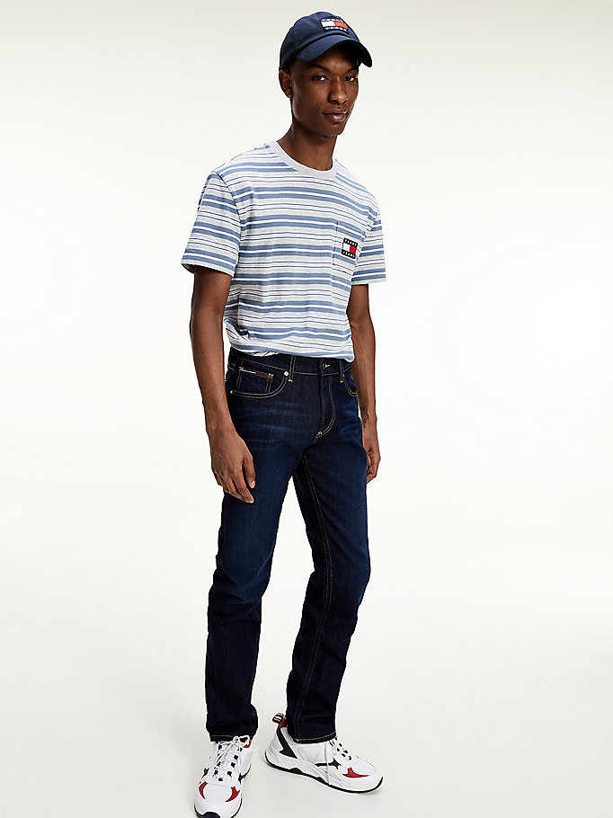 denim ryan straight fit stretch-jeans für herren - tommy jeans