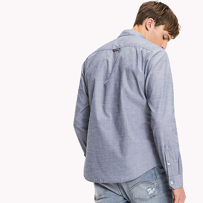 TOMMY JEANS Cotton Regular Fit Shirt - SLEET - TOMMY JEANS Clothing - detail image 2