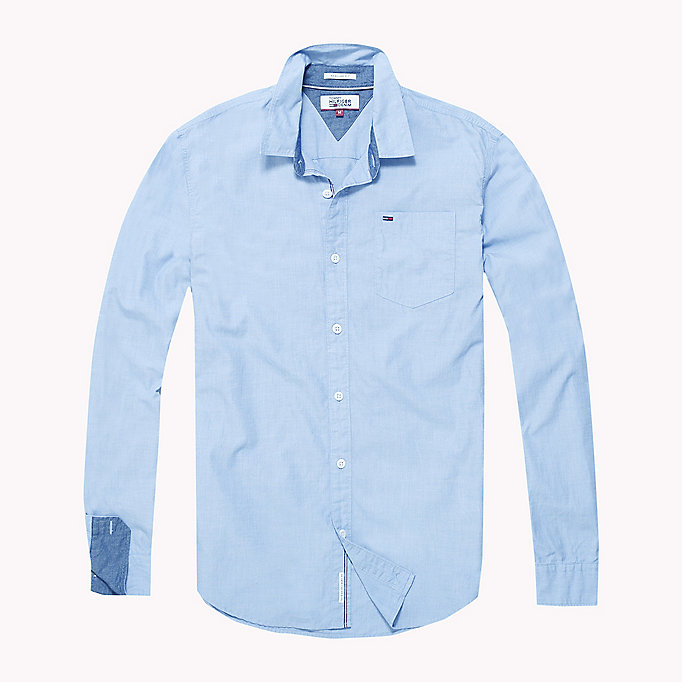 TOMMY JEANS Cotton Regular Fit Shirt - JELLY BEAN - TOMMY JEANS Men - detail image 1
