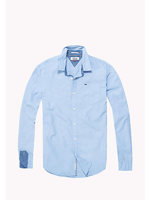 TOMMY JEANS Cotton Regular Fit Shirt - BLUE HORIZON - TOMMY JEANS Shirts - detail image 1
