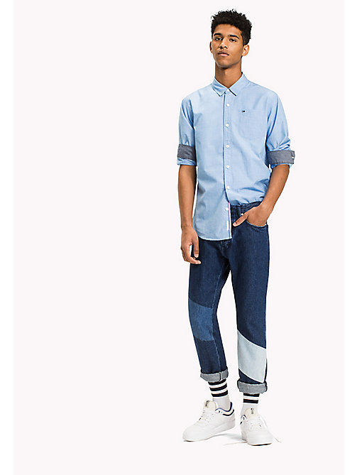TOMMY JEANS Cotton Regular Fit Shirt - BLUE HORIZON - TOMMY JEANS Shirts - main image