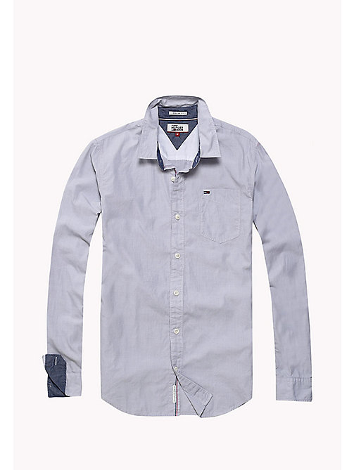 TOMMY JEANS Cotton Regular Fit Shirt - SLEET - TOMMY JEANS MEN - detail image 1