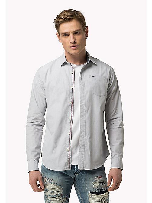 TOMMY JEANS Cotton Regular Fit Shirt - SLEET - TOMMY JEANS MEN - main image