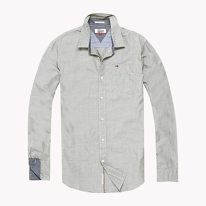 TOMMY JEANS Cotton Regular Fit Shirt - SALSA - TOMMY JEANS Clothing - detail image 1